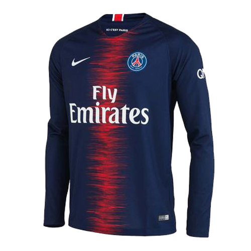 PSG Long Sleeve Soccer Jerseys 2018-19 Home Football Shirts